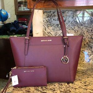 NWT Michael Kors Ciara tote handbag&wallet